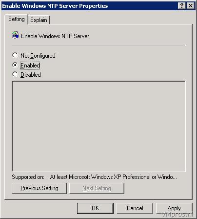 VMprosWindows Server: Configuring the Windows Time Service
