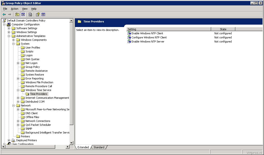 VMprosWindows Server: Configuring the Windows Time Service - VMpros