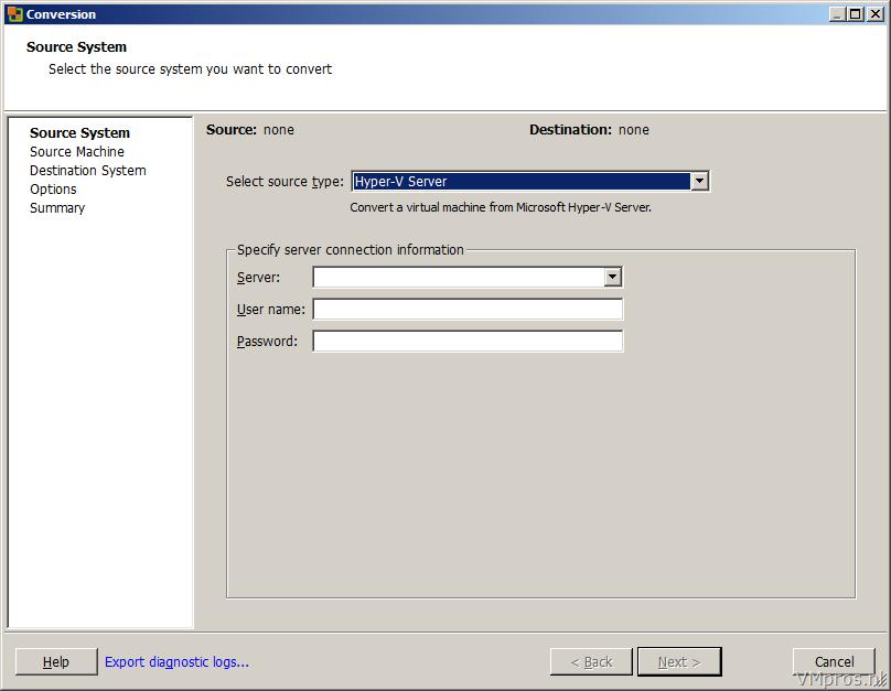 VMprosVMware: VMware vCenter Converter Standalone 4 3