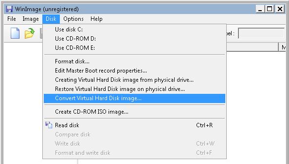 VMprosVMware: Convert VHD to VMDK with WinImage - VMpros