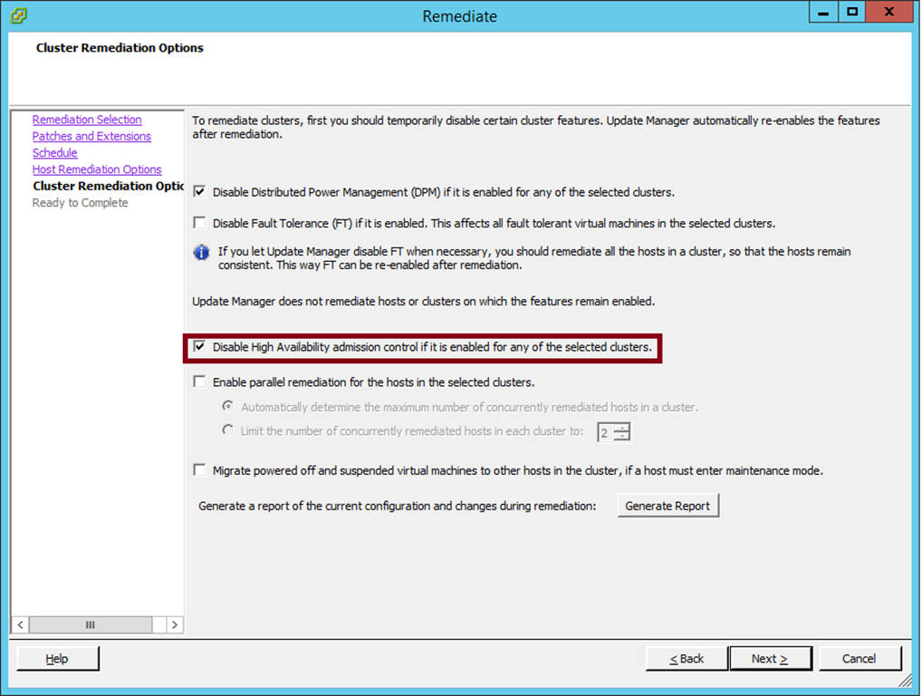 VMprosVMware: Update Manager - The operation is not